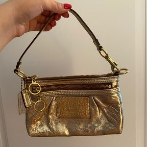 COACH AUTHENTIC GOLD SMALL BAG